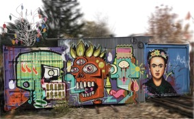 Grafitty verwischt